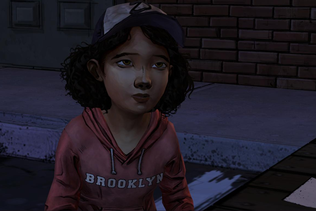 Clementine in The Walking Dead game.