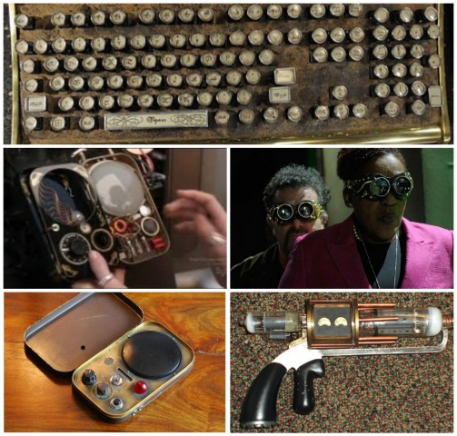 Teslas, Farnsworths, goggles, and steampunked keyboards!