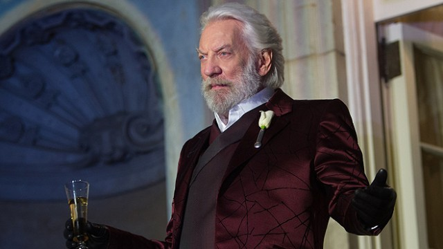 The Hunger Games Catching Fire President Snow Donald Sutherland
