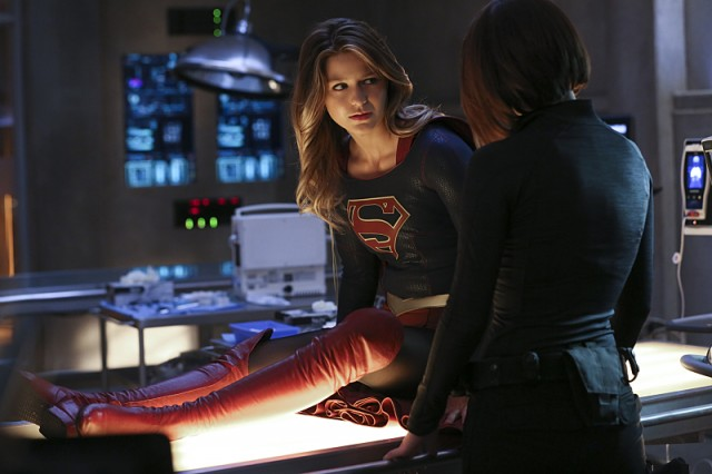 supergirl on a cot