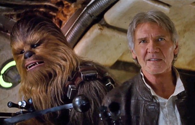 Chewbacca and Han Solo from The Force Awakens