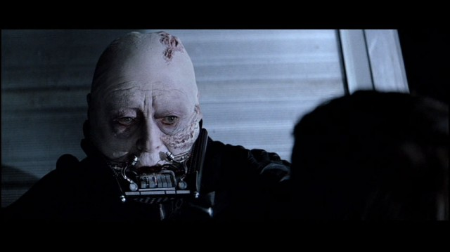 Darth Vader without his mask in Return of the Jedi