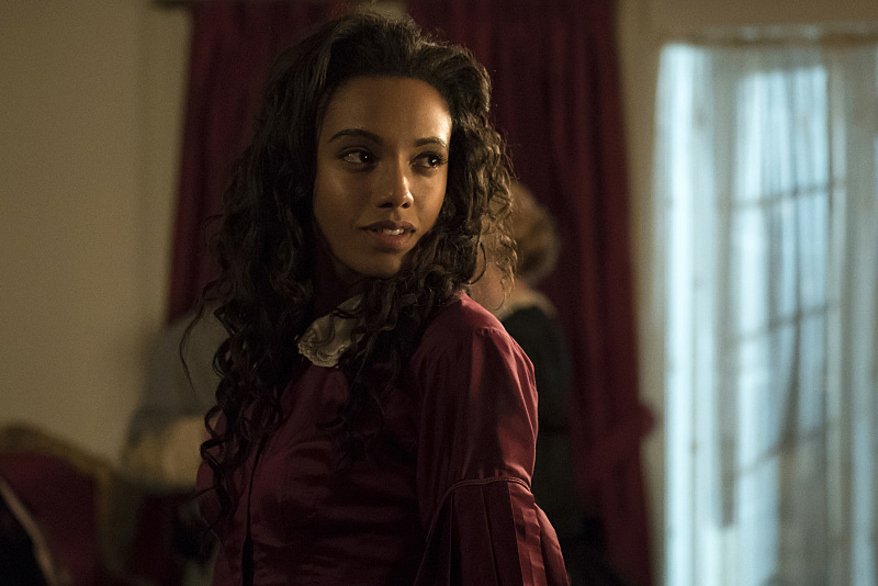 """DC's Legends of Tomorrow --"""" Abominations""""-- Image LGN204a_0139.jpg -- Pictured: Maisie Richardson- Sellers as Amaya Jiwe/Vixen -- Photo: Katie Yu/The CW -- © 2016 The CW Network, LLC. All Rights Reserved."""