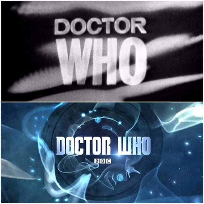 image: BBC/BBC America/Teresa Jusino The first and most current logos for Doctor Who