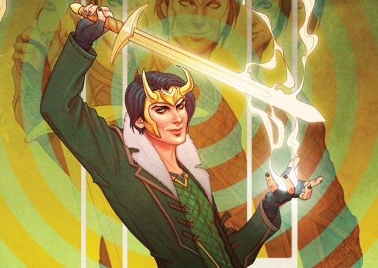 "Cropped image of the cover of Marvel Comics' ""Loki Agent of Asgard"" #1; cover by Jenny Frison"
