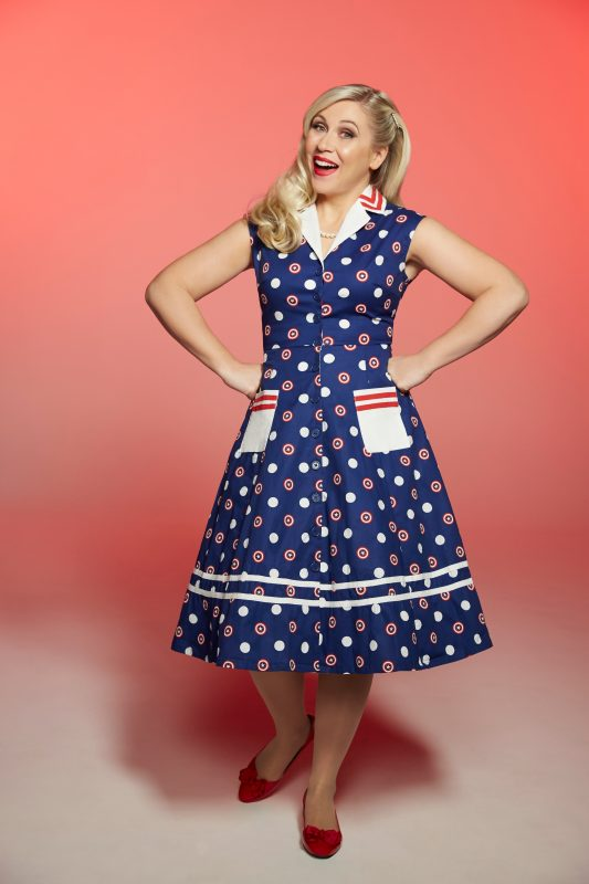 image: Her Universe Ashley Eckstein in Captain America retro dress