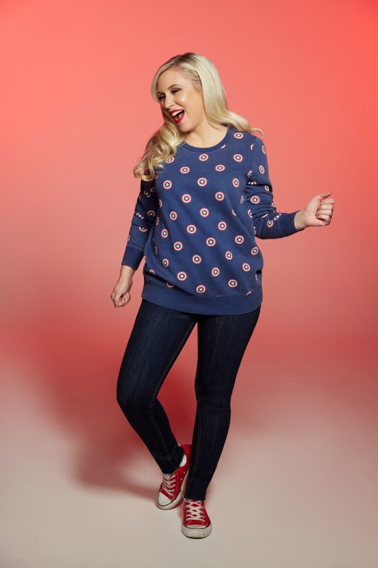 image: Her Universe Ashley Eckstein in Captain America sweater