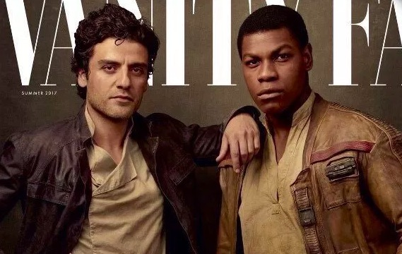 Finn and Poe on Vanity Fair cover