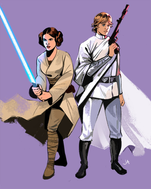 Gorgeous Star Wars Fanart Of Luke And Leia Role Swap The Mary Sue