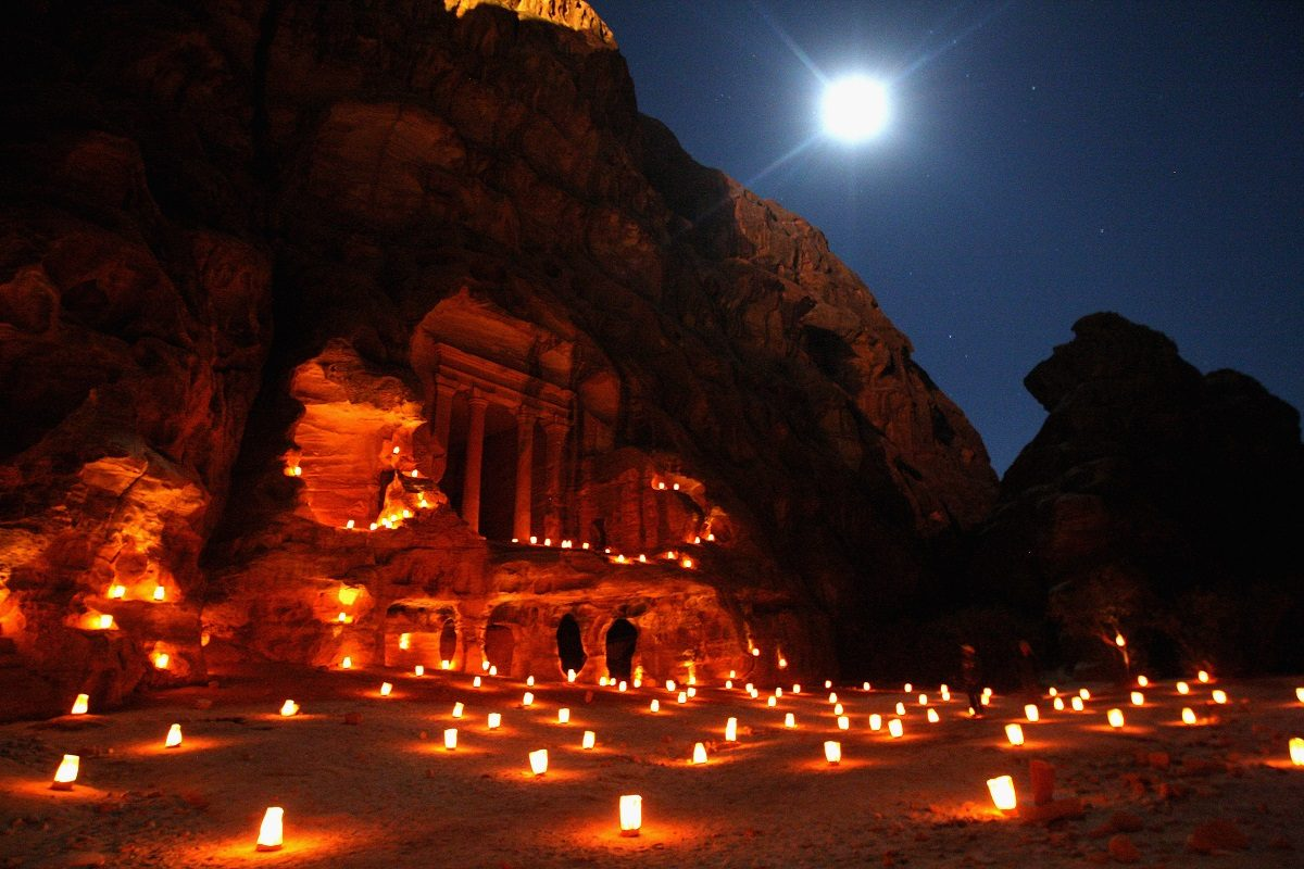Ancient temple in the historic city of Petra, Jordan (Photo by Chris Jackson/Getty Images)