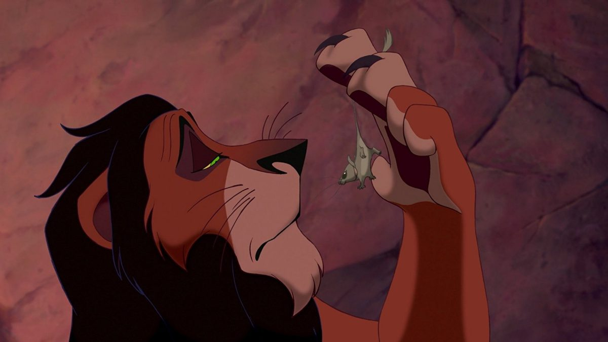 scar in animated the lion king