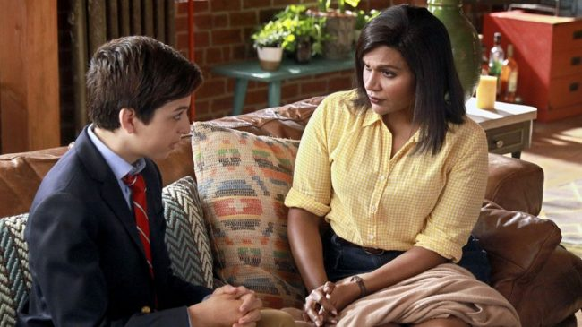 "image: NBC J.J. Totah and Mindy Kaling in a scene from ""Champions"""
