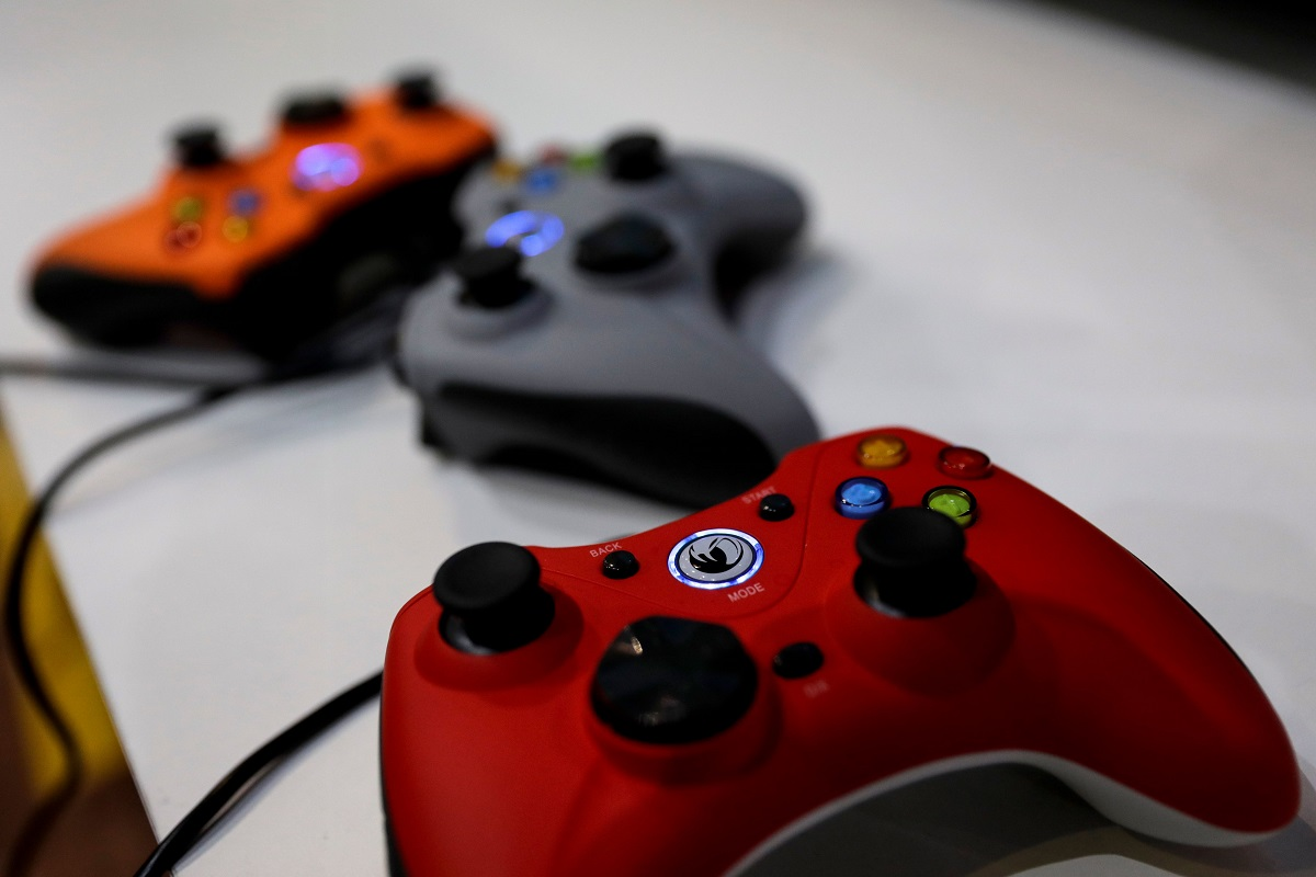 Microsoft Xbox video game controllers (Credit: THOMAS SAMSON/AFP/Getty Images)