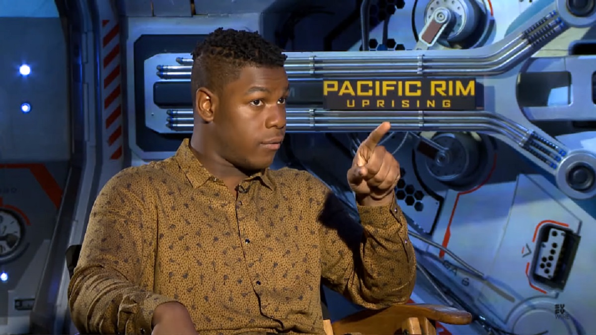 Screengrab of John Boyega's interview with SYFY Wire
