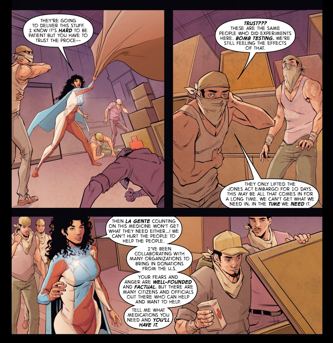 """Story by Rosario Dawson and Gus Vazquez for the """"Ricanstruction"""" anthology for Puerto Rico"""