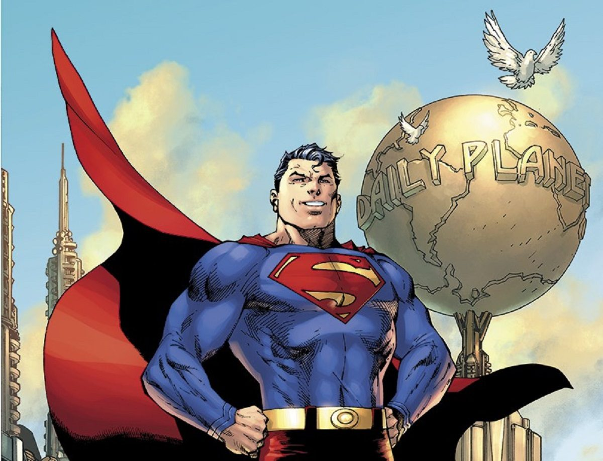 Action Comics #1000 cover featuring Superman. Art by Jim Lee.