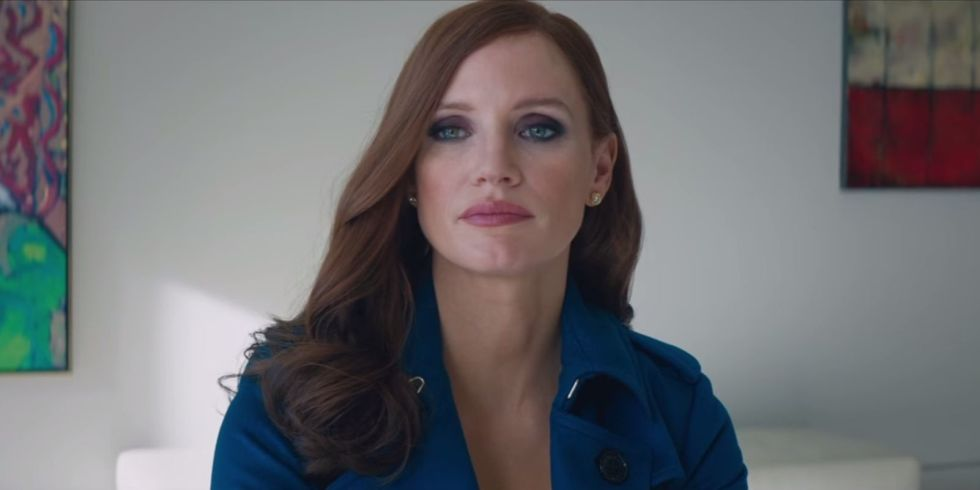 Jessica Chastain as Molly Bloom in Aaron Sorkin's 'Molly's Game'