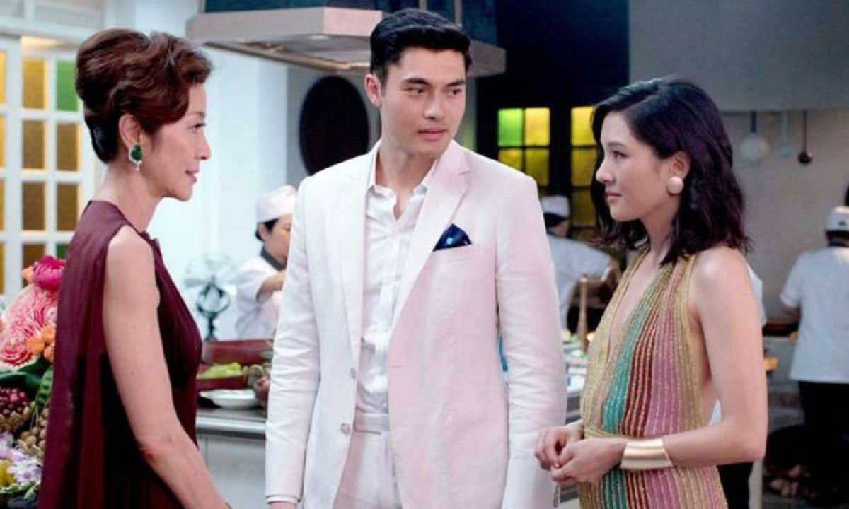 Michelle Yeoh, Henry Golding, and Constance Wu in 'Crazy Rich Asians'