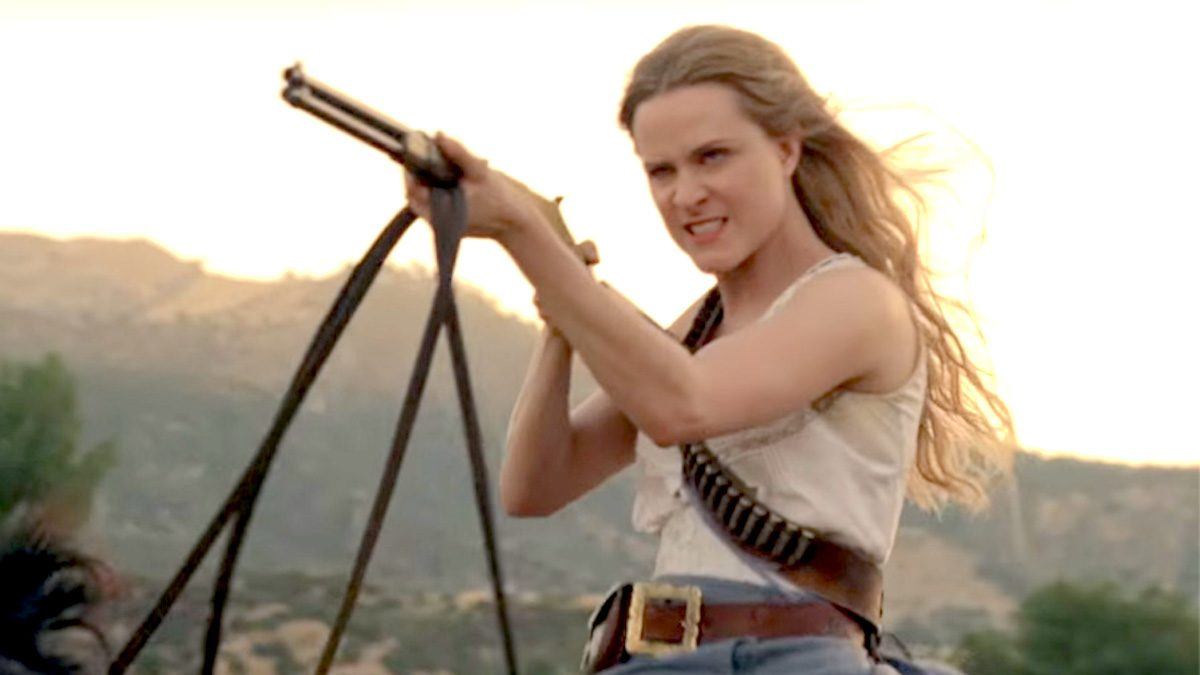 Evan Rachel Wood as Dolores on HBO's Westworld