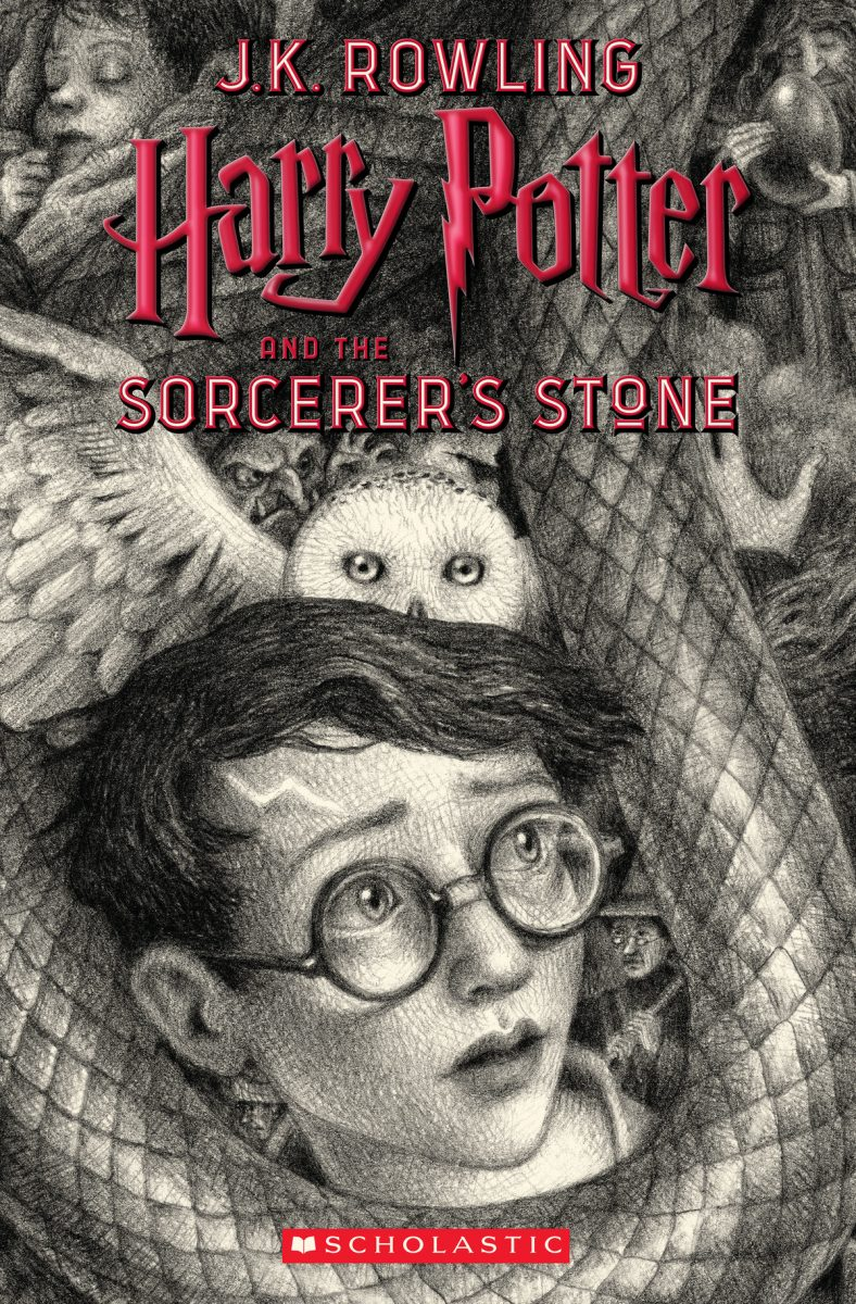 Harry Potter and the Sorcerer's Stone cover. Art by Brian Selznick.