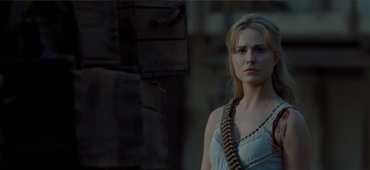 Evan Rachel Wood as Dolores in a scene from Westworld on HBO