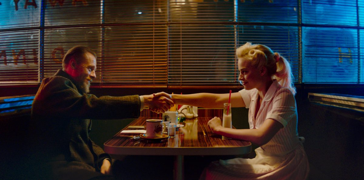 Simon Pegg and Margot Robbie in 'Terminal'