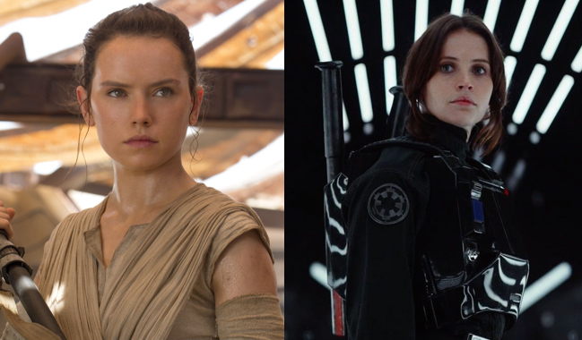 Rey and Jyn in Star Wars