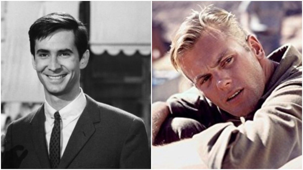 Anthony Perkins and Tab Hunter