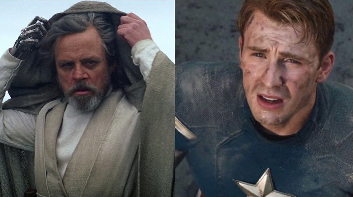 Luke Skywalker and Captain America