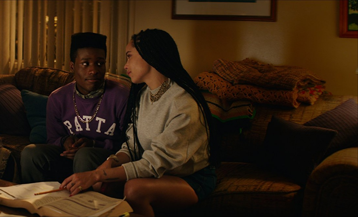 Zoë Kravitz and Shameik Moore in Dope (2015)