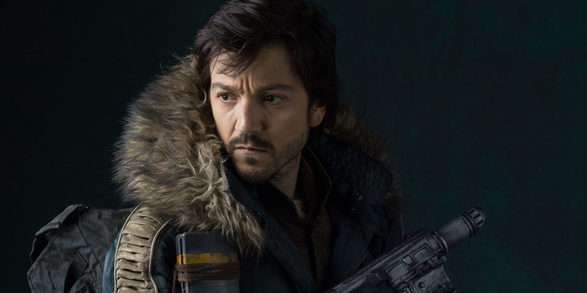 Diego Luna as Cassian Andor in Rogue One: A Star Wars Story.