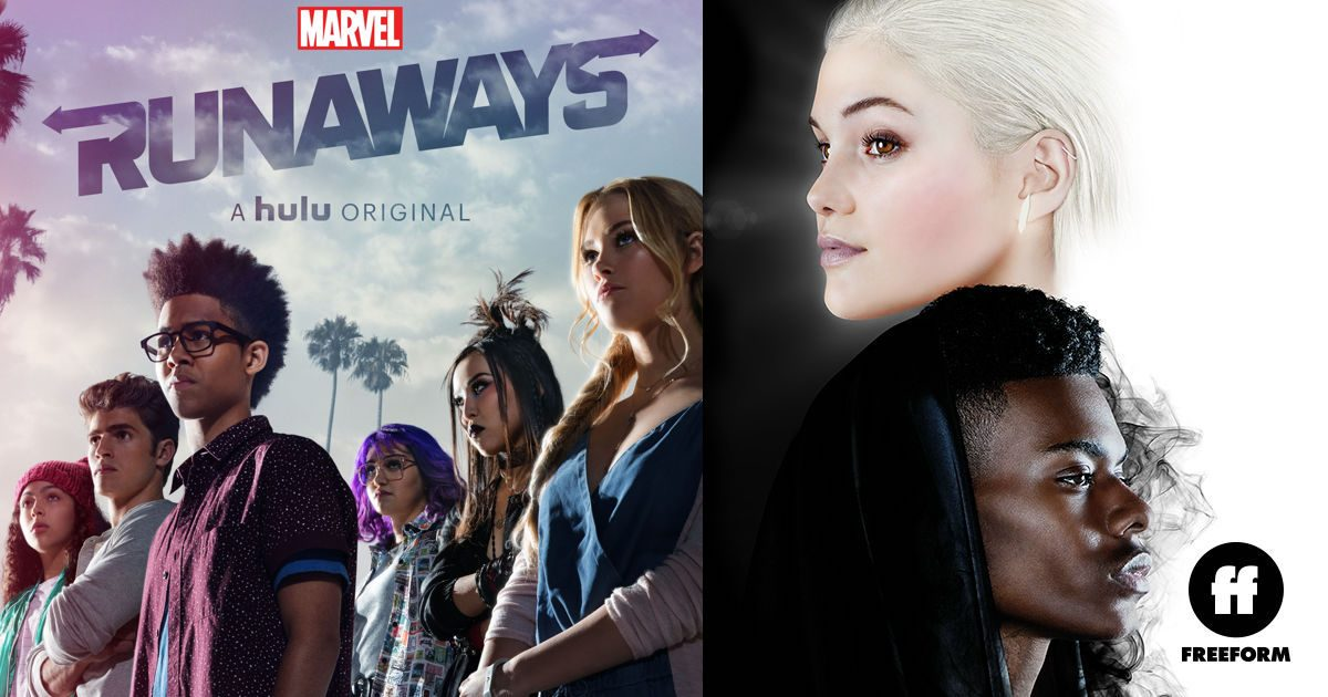 Marvel's Runaways (Hulu) and Cloak and Dagger (Freeform) casts
