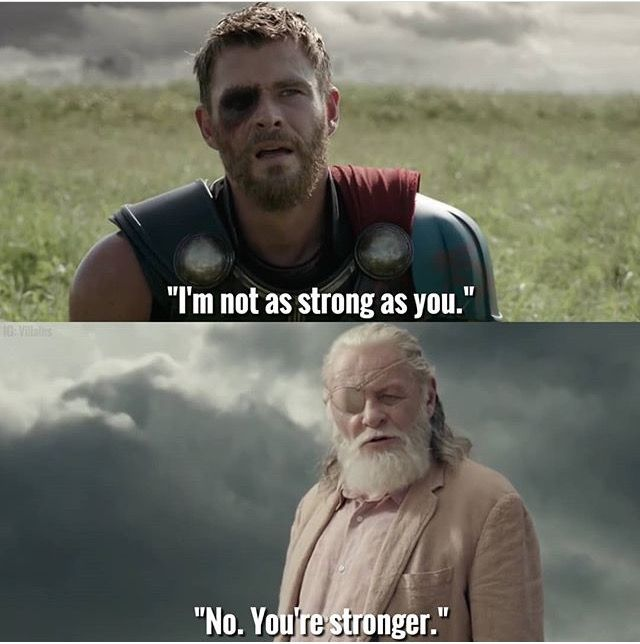 Thor and Odin in 'Thor: Ragnarok'