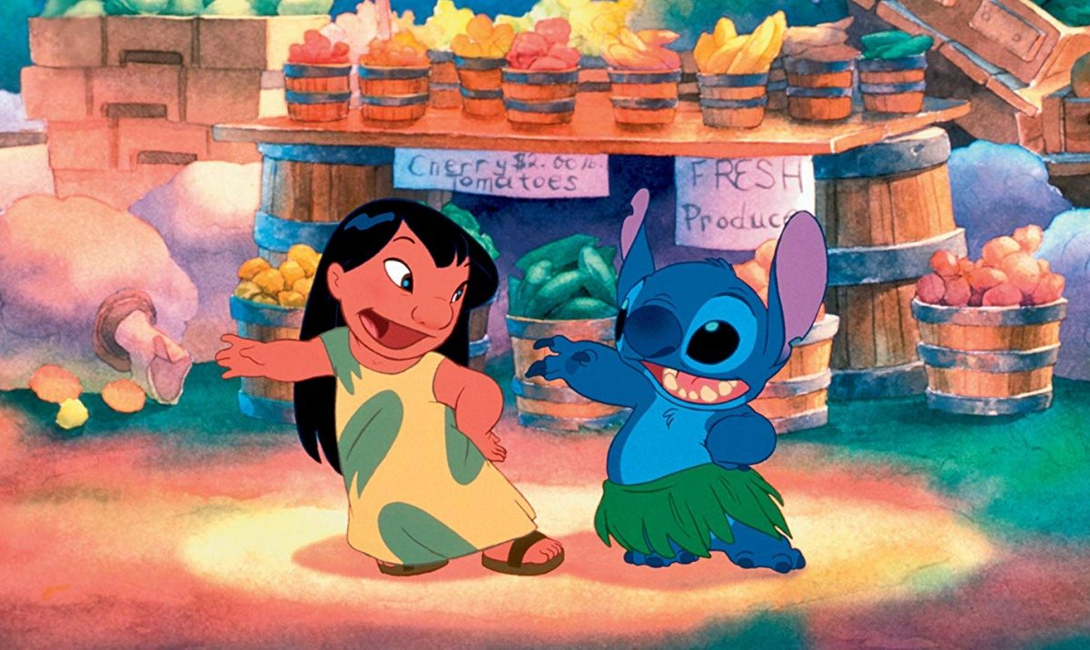 Daveigh Chase and Chris Sanders in Lilo & Stitch (2002)