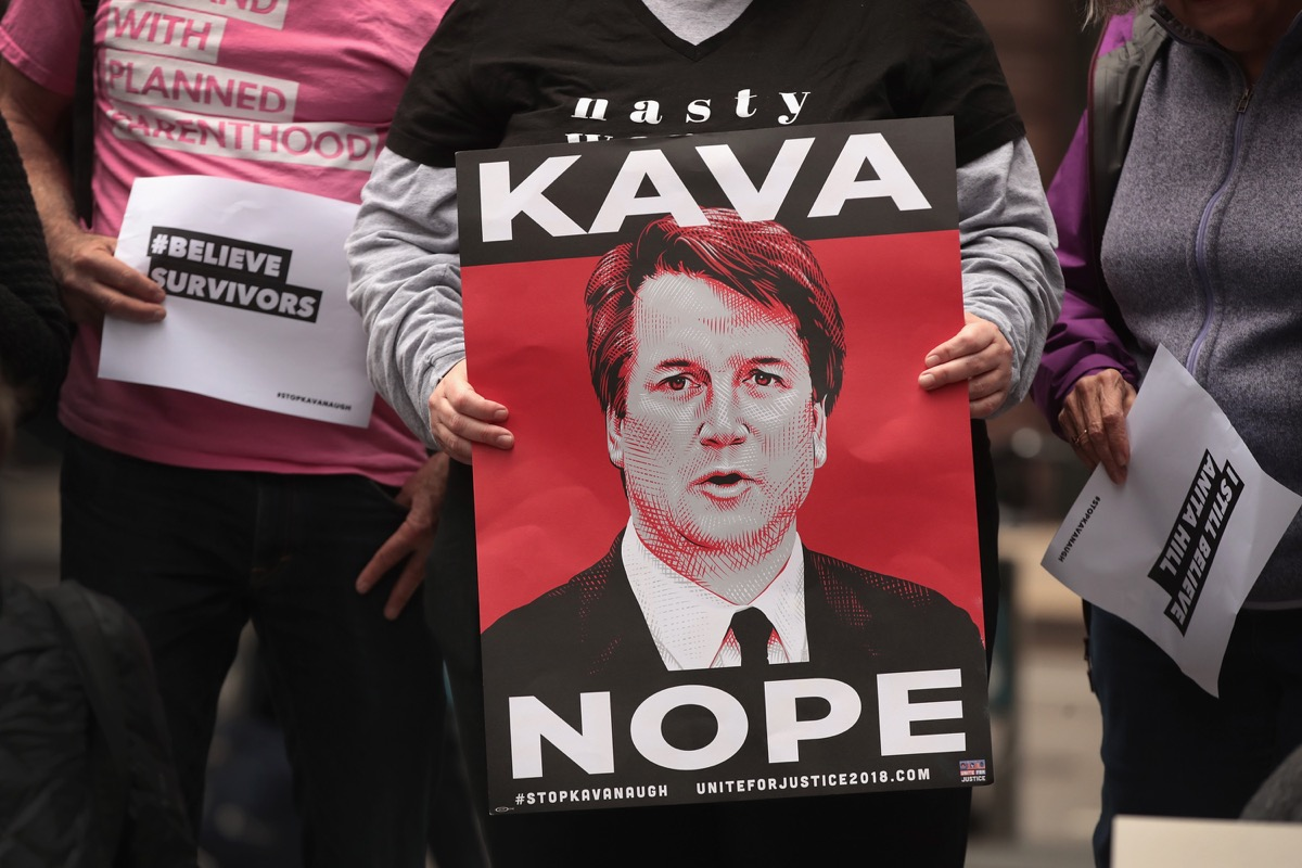 kavanaugh kava nope protest sign