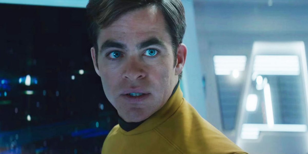 Jim Kirk (Chris Pine) faces a no-win scenario in Star Trek Into Darkness