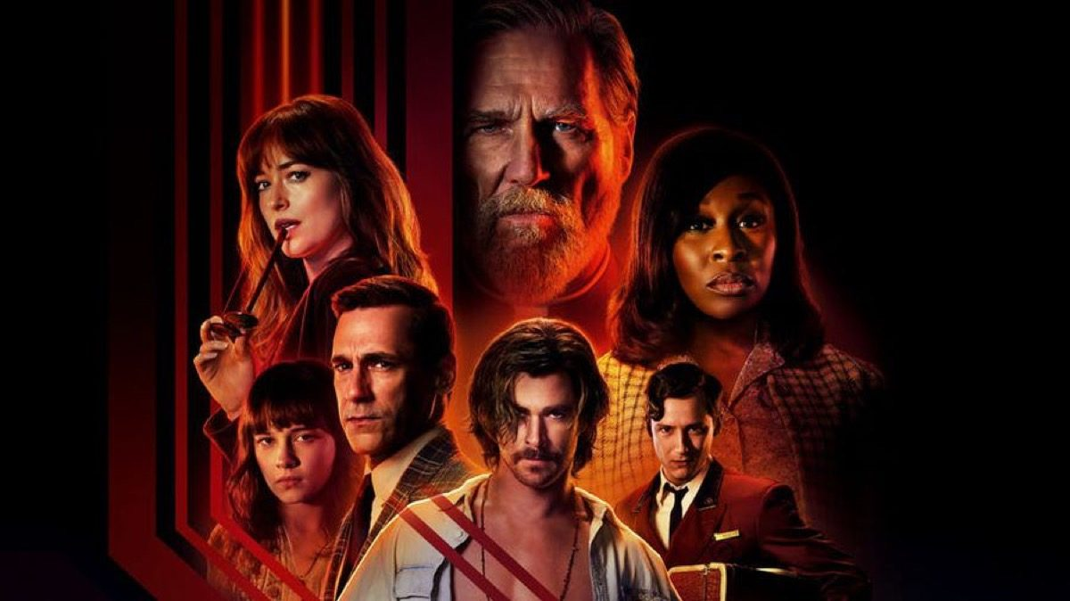 bad times at the el royale poster with cast pictured