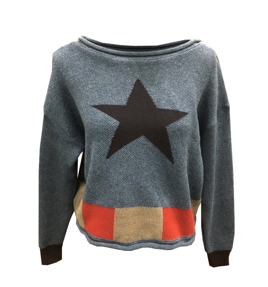 Be the star spangled man with a plan in this Captain America sweater from Hero Within