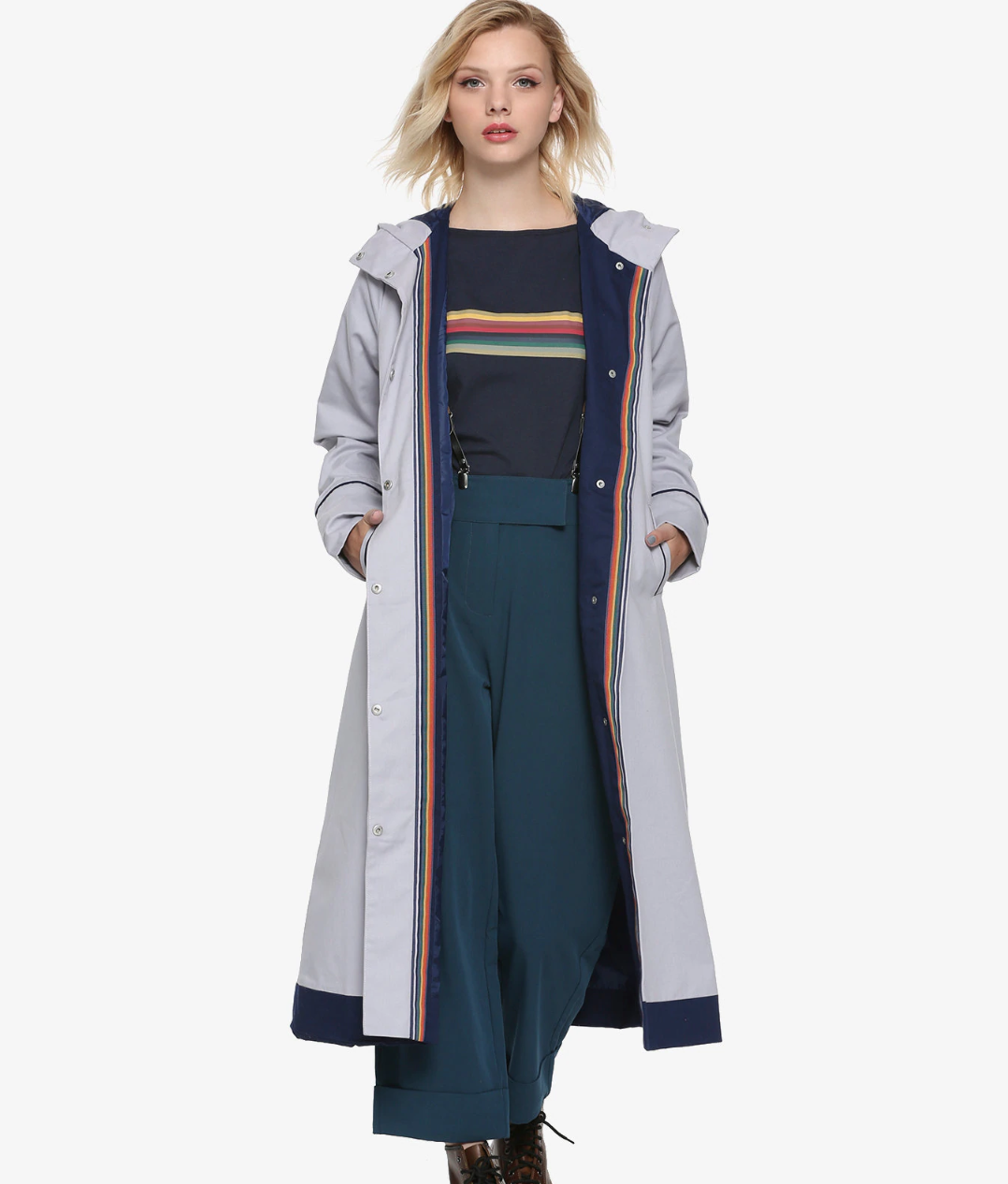 Cosplay as the Thirteenth Doctor with this coat from Her Universe