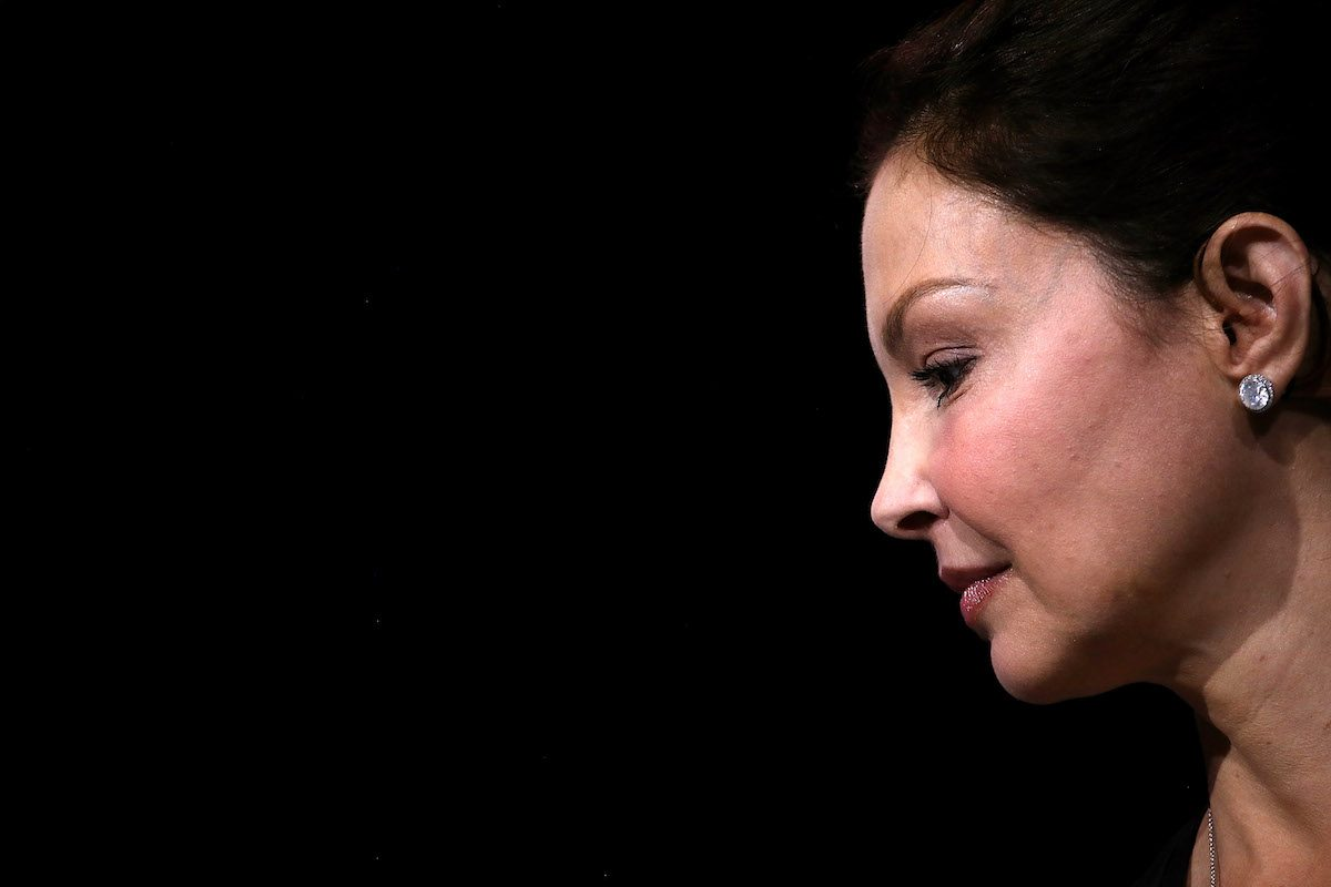 Actress and activist Ashley Judd looks on during the 29th annual Conference of the Professional Businesswomen of California (PBWC)