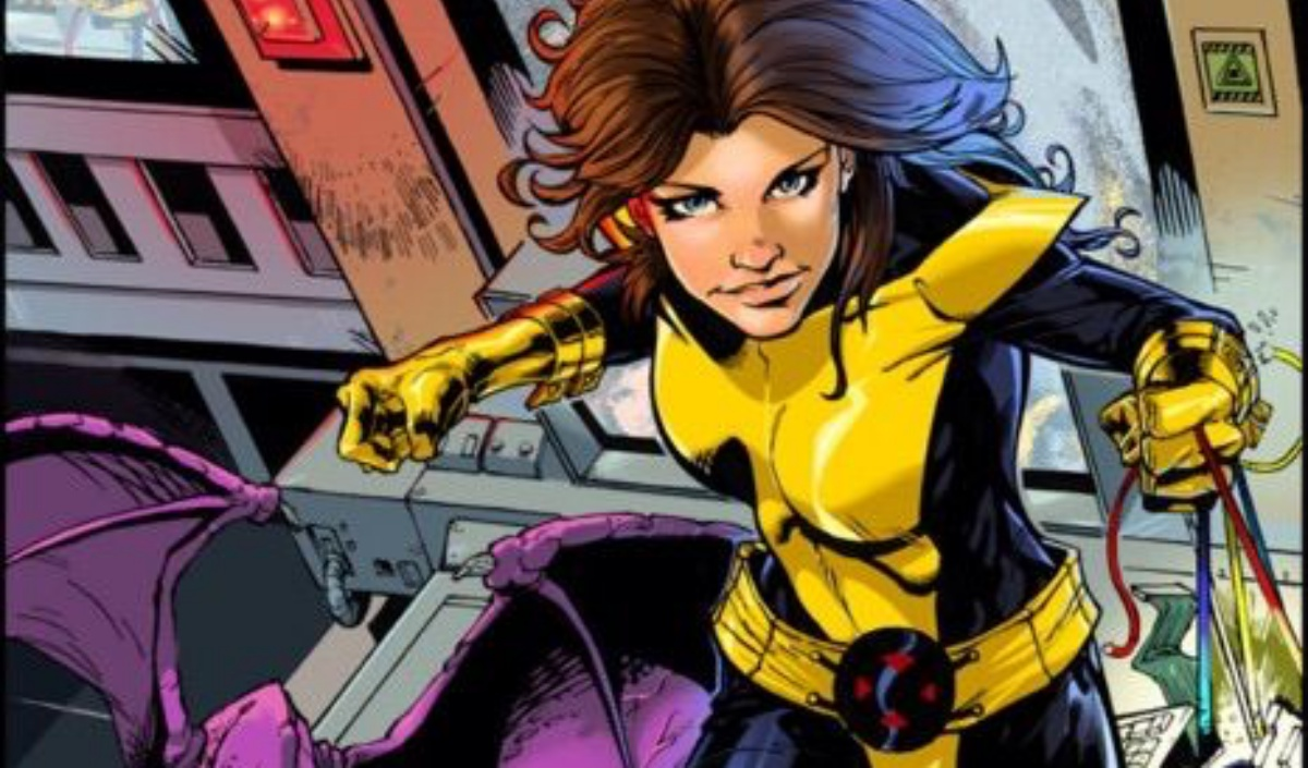 Kitty Pryde with her dragon