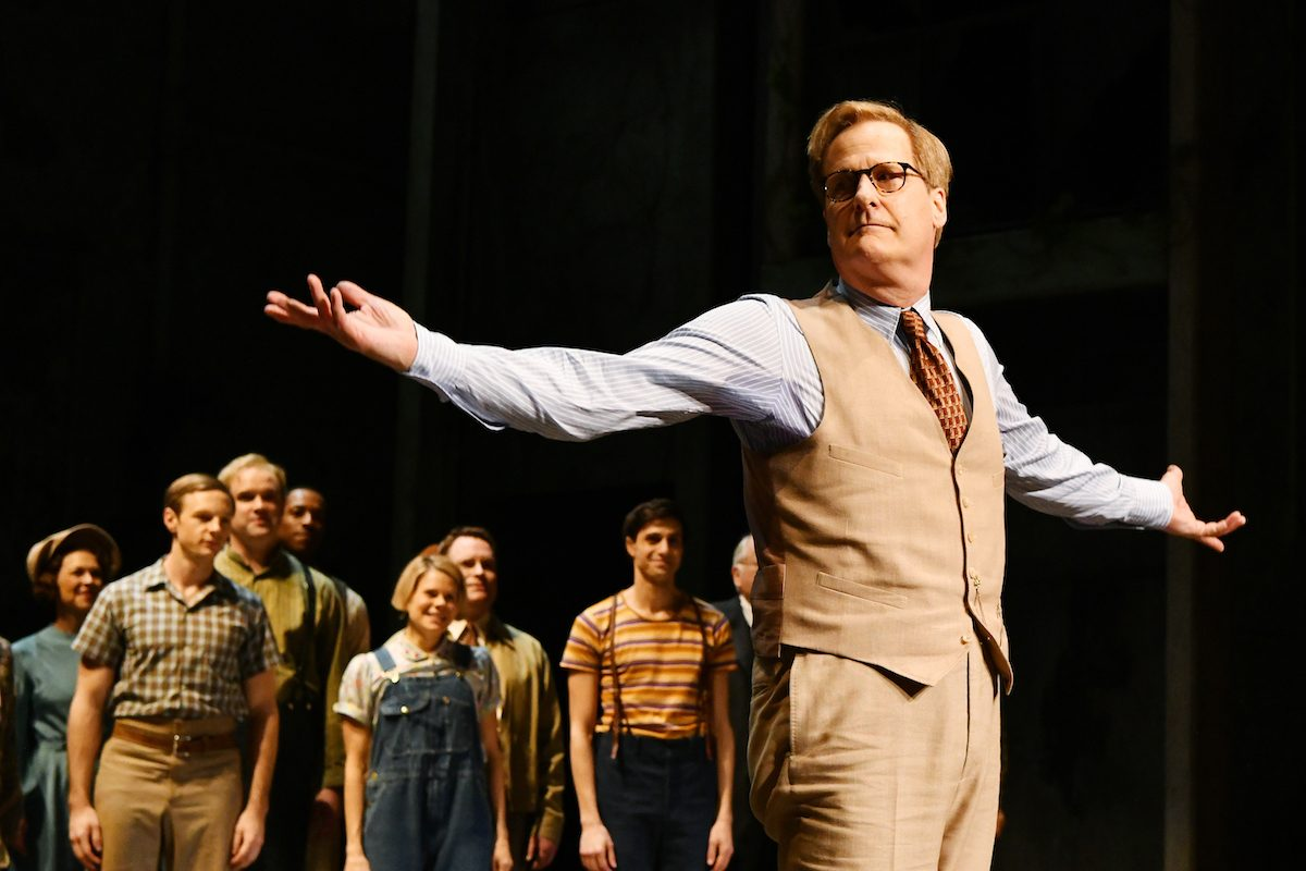 """Jeff Daniels takes a bow during curtain call after the opening night performance of """"To Kill A Mocking Bird"""""""