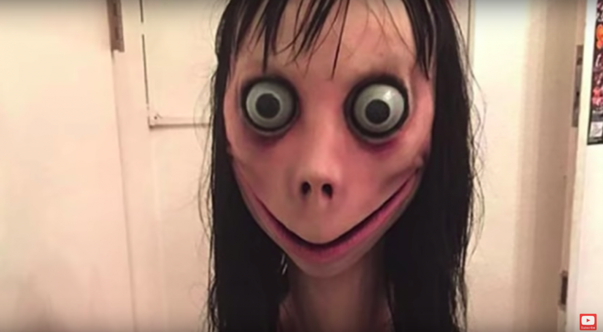 The Momo Challenge image scaring parents.