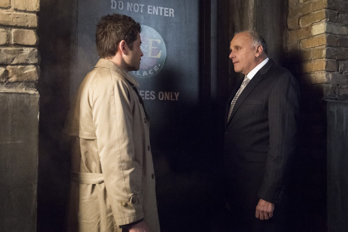 Castiel and his boss in Supernatural.