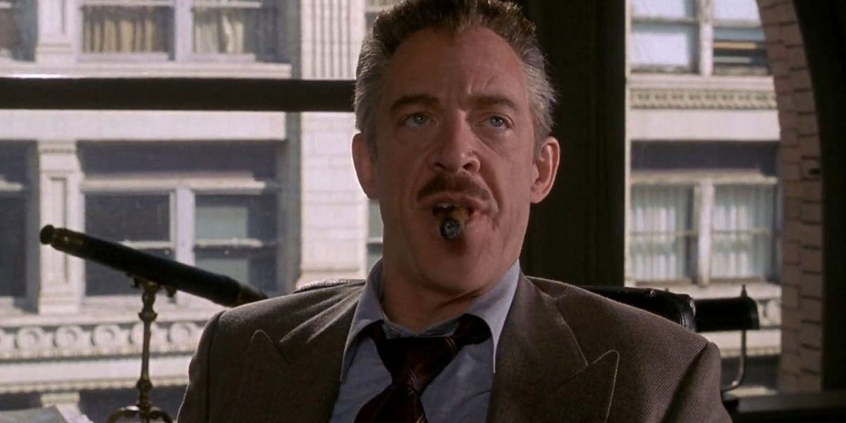 J.K. Simmons plays J. Jonah Jameson in the Raimi Spider-Man films.