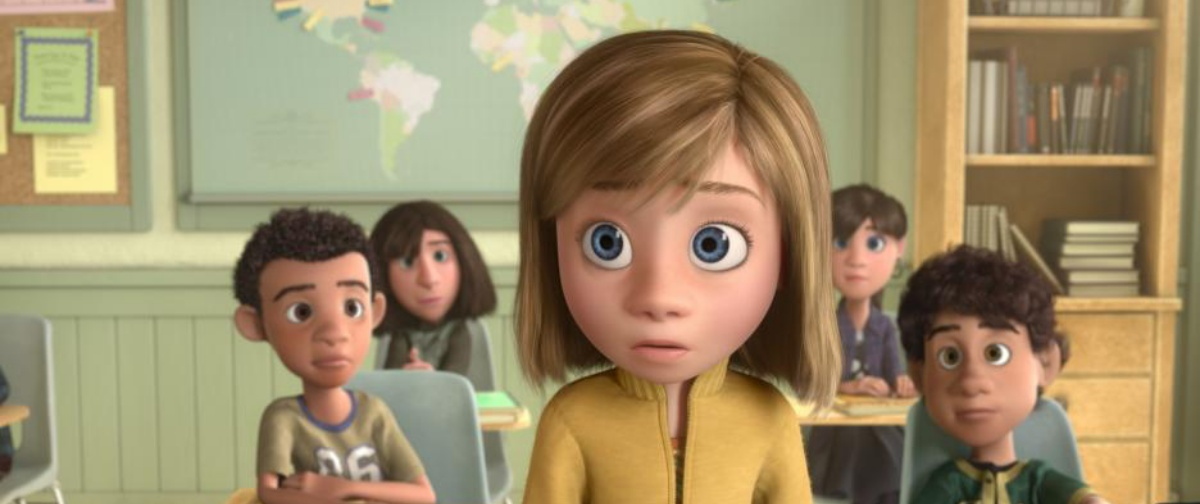 Riley in Inside Out experiencing one of the many traumas she will have to go to therapy over