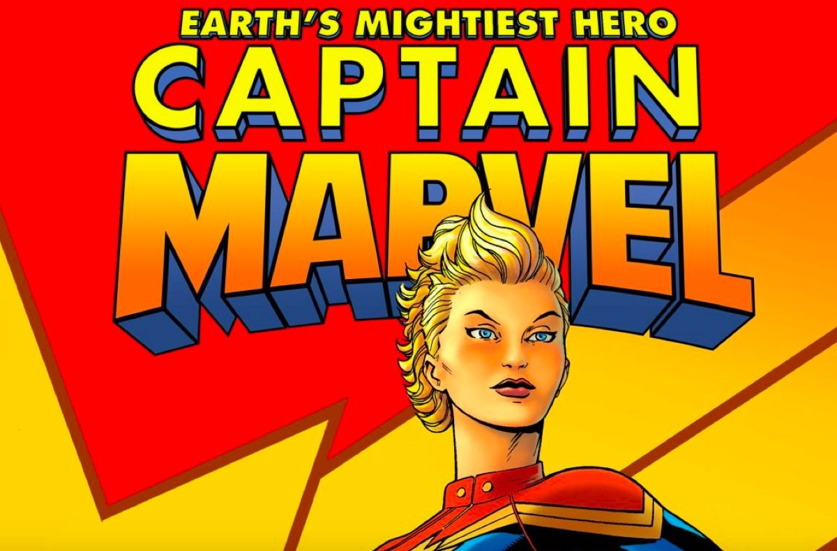 Captain Marvel comic cover.