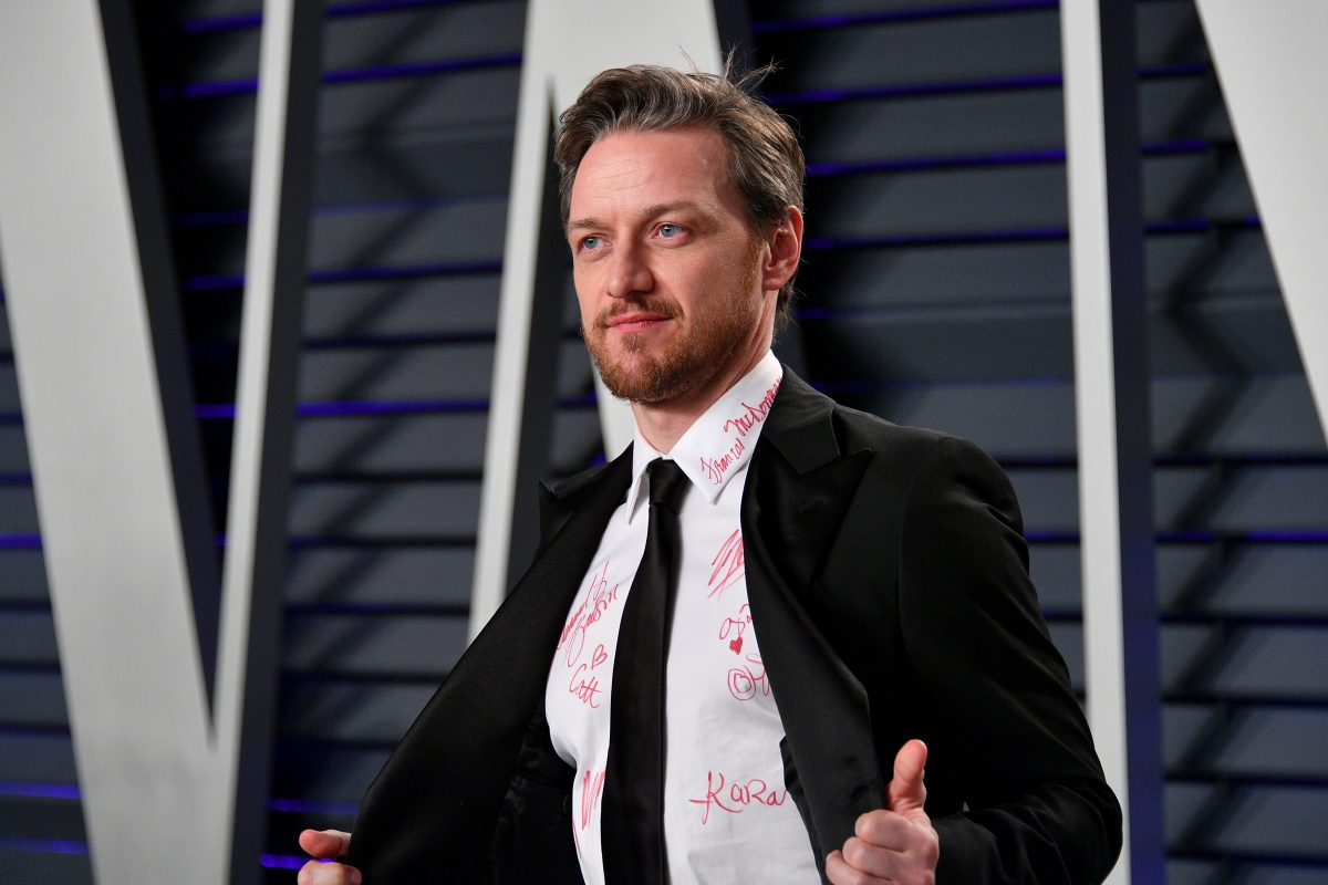 James McAvoy at the Vanity Fair Oscars party
