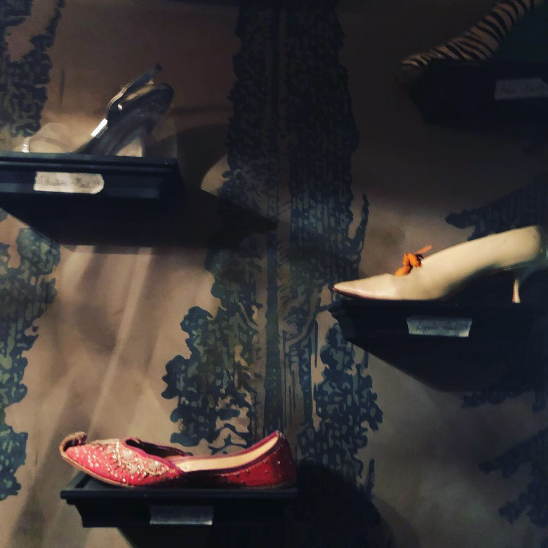 Shoes on the wall on the Chilling Adventures of Sabrina set.