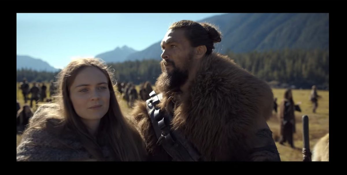 hera hilmar and jason momoa star in the futuristic saga See.